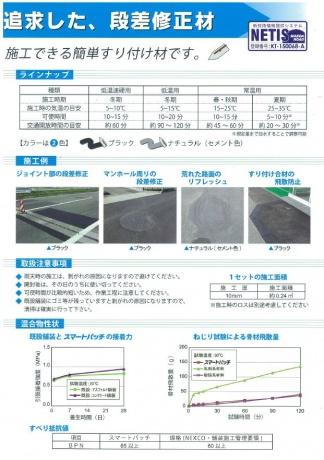 コテのみで施工可能な高耐久段差修正材 スマートパッチ 4.8㎏×4セット  A005